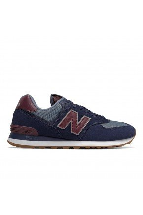 tenis new balance 574 casual masculino azul hyped 91