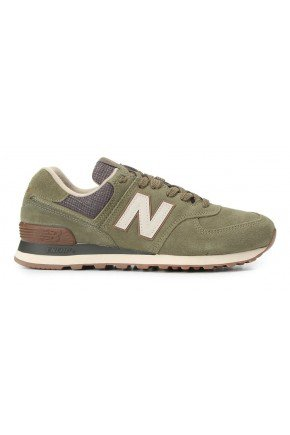 tenis new balance 574 casual masculino verde hyped 91