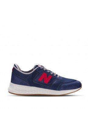 tenis new balance x70 casual masculino azul branco hyped 91