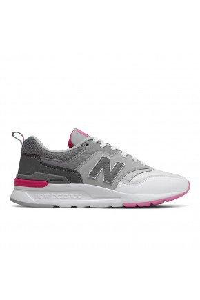 tenis new balance 997h feminino casual cinza branco rosa hyped 91