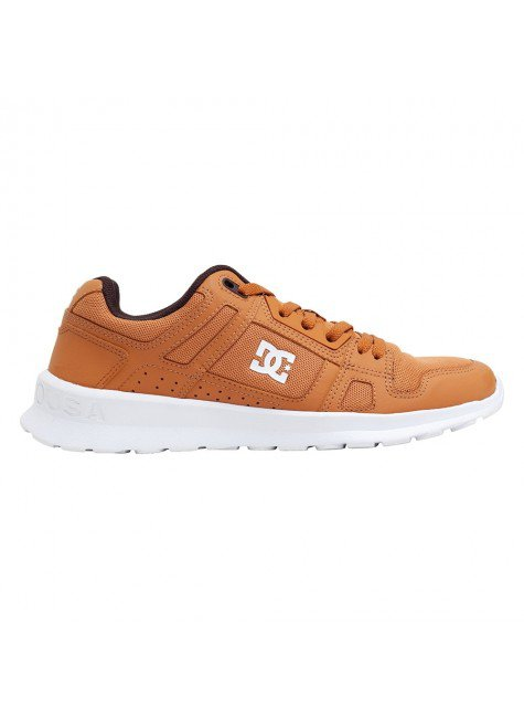 tenis dc shoes stag lite masculino brown brown white hyped 91