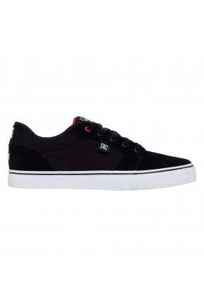 tenis dc shoes anvil la tiago lemos black red red hyped 91