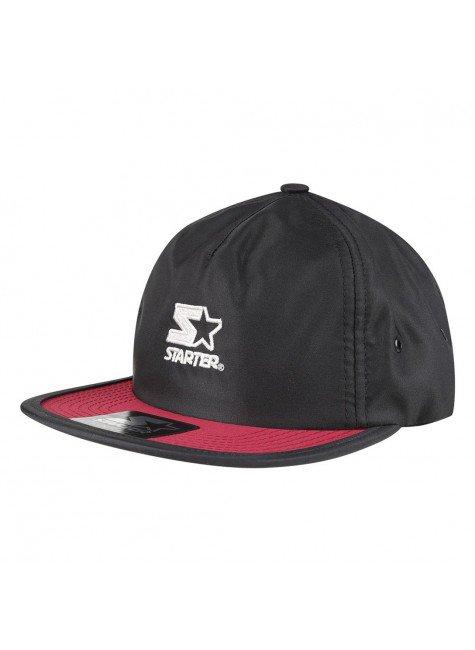 bone starter strapback logo dark classic preto vermelho hyped 91