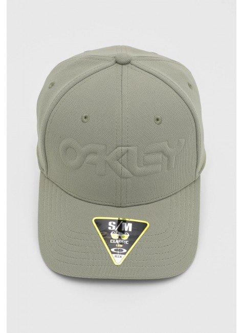 bone oakley 6 panel stretch hat embossed aba curva uniform green hyped 91