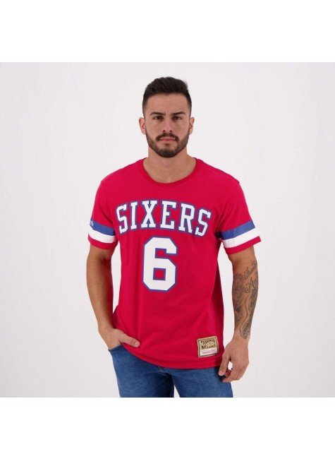 camiseta nba erving 6 philadelphia 76ers sixters mitchell ness hyped 91