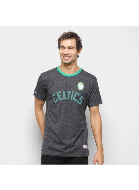 camiseta nba boston celtics mitchell ness basica masculina grafite hyped 91