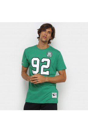 camiseta nfl philadelphia eagles n 92 reggie white mitchell ness masculina verde e branco hyped 91