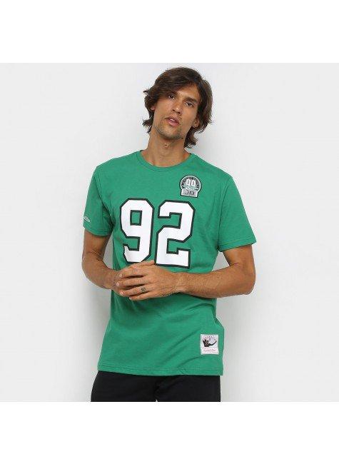 camiseta nfl philadelphia eagles n 92 reggie white mitchell ness masculina verde e branco hyped 91
