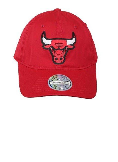 bone chicago bulls mitchell ness aba curva vermelho hyped 91