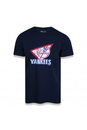 Camiseta New York Yankees MLB NEW ERA Extra Fresh Triangle azul marinho  hyped 91