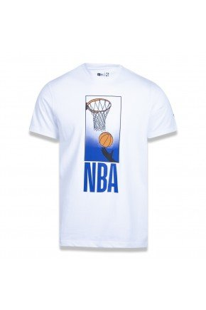 camiseta new era nba core playing branca hyped 91