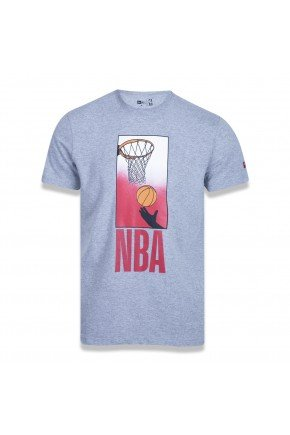 camiseta new era nba core playing cinza mescla hyped 91