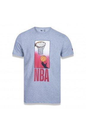 camiseta new era nba core playing cinza mescla hyped 91
