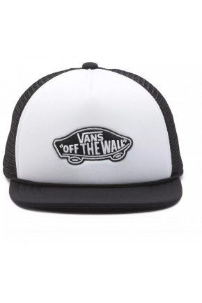 bone vans classic patch trucker preto branco aba reta hyped 91