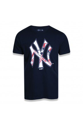 camiseta new era mlb new york yankees logomania mix azul hyped 91