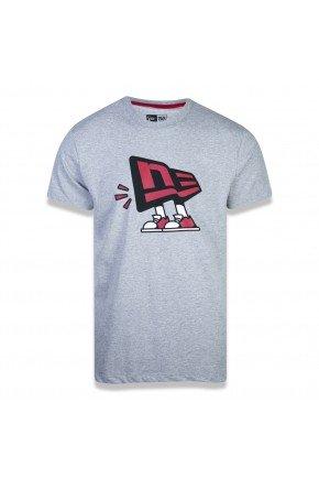 camiseta new era core flag dude cinza vermelho hyped 91
