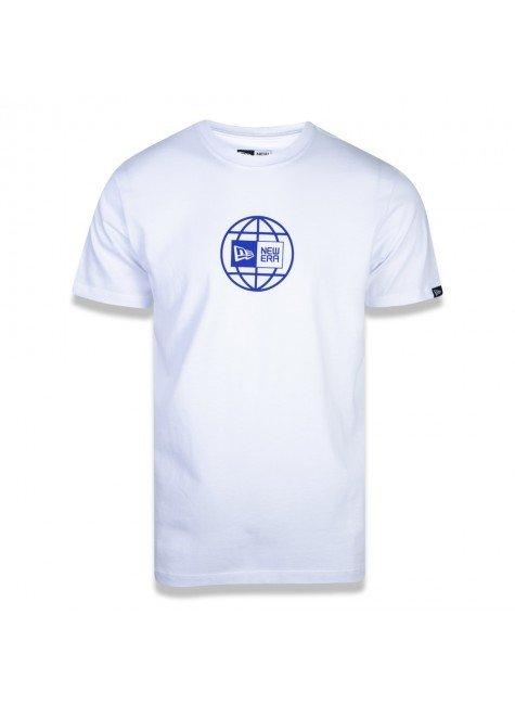 camiseta new era core world branca e azul hyped 91