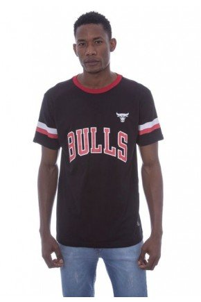 camiseta nba estampada chicago bulls preta hyped 91