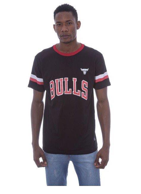 camiseta nba estampada chicago bulls preta hyped 91