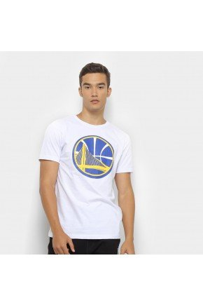 camiseta nba golden state warriors big logo masculina branco hyped 91