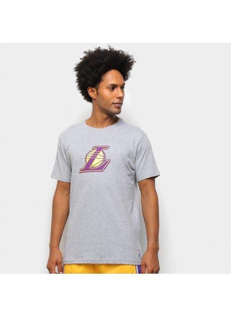 camiseta nba los angeles lakers vinil masculina mescla hyped 91