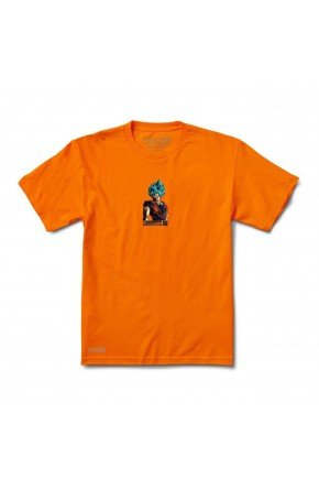 Camiseta Primitive X Dragon Boll Z Shadow Gaku tee laranja hyped 91