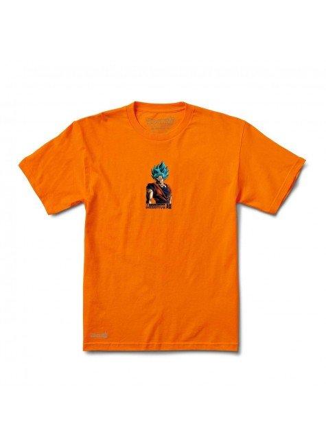 Camiseta Primitive X Dragon Boll Z Shadow Gaku tee laranja hyped 91