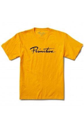 Camiseta Primitve Nuevo Script Core Tee Amarela   hyped 91