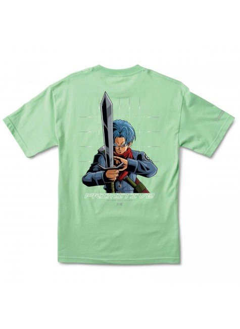camiseta primitive x dragon ball z shadow trunk tee verde hyped 91