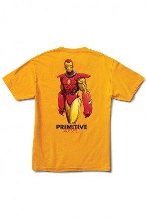 camiseta primitive x marvel iron man amarela hyped 91 2