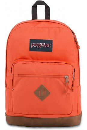 mochila jansport city view sedona sun laranja hyped 91