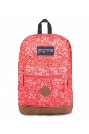 Mochila jansport City View Itsy Ditzy Laranja Floral   Hyped 91
