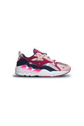tenis mizuno wave rider feminino rosa cinza branco hyped 91 6