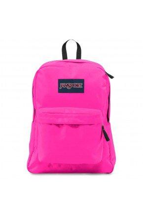 mochila jansport superbreak ultra pink e rosa hyped 91