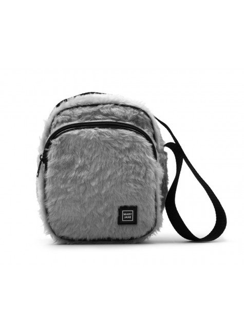 bolsa shoulder bag mary jane pelucia cinza hyped 91