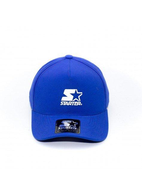 bone starter aba curva snapback logo azul hyped 91 2