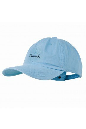 diamond bone diamond og script dad hat azul aba curva strapback hyped 91