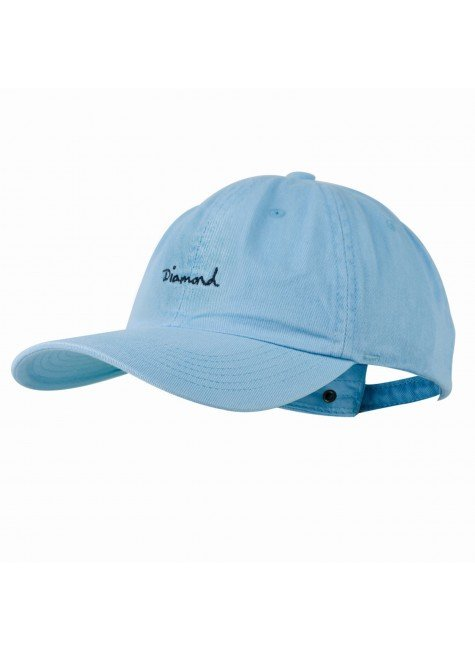 diamond bone diamond og script dad hat azul aba curva strapback hyped 91