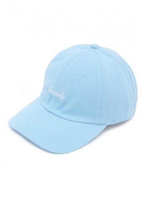 bone grizzly mini cursive dad hat aba curva strapback azul hyped 91 2