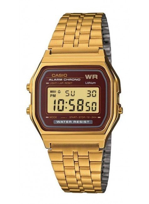 relogio casio vintage unissex digital a159wgea 5df dourado hyped 91