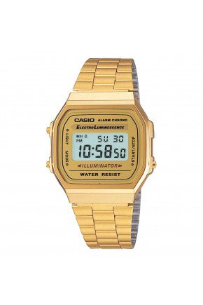 relogio casio vintage unissex dourado a168wg 9wdf hyped 91