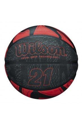 bola de basquete wilson 21 series preto vermelho hyped 91