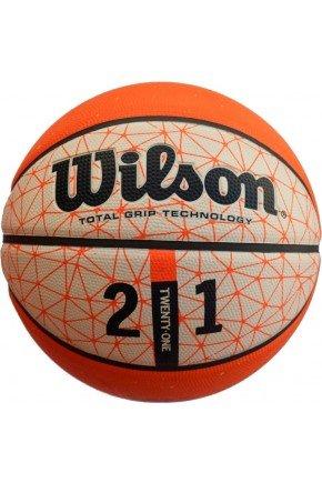 bola de basquete wilson 21 series branco laranja hyped 91