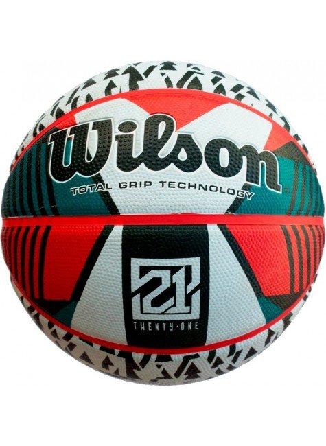 bola de basquete wilson 21 series branco verde vermelho hyped 91