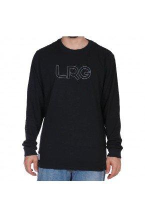 camiseta manga longa lrg clothing brisson preto hyped 91