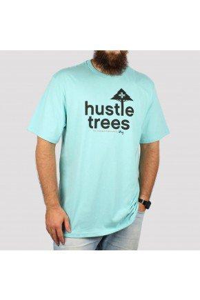 camiseta lrg hustle trees azul hyped 91