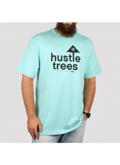 camiseta lrg hustle trees azul hyped 91