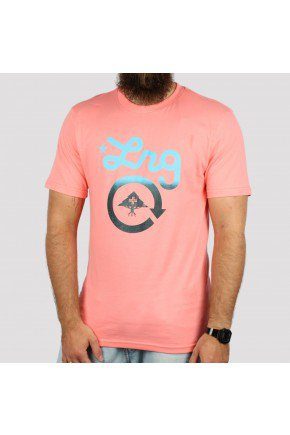 camiseta lrg logo cycle rosa salmao hyped 91