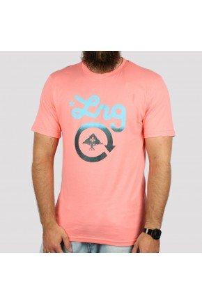 camiseta lrg logo cycle rosa salmao hyped 91