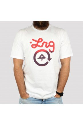 camiseta lrg logo cycle branca hyped 91